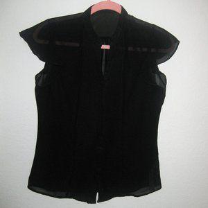 Black Blouse Exclusive Sz S short sleeve
